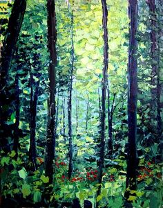 Forest Abstract Nature, Nature Paintings, Art Images, Green, Artwork, Plants, Inspiration, Google Search, Biblical Inspiration