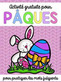 Fun FREE French game for Easter - hide the letters in plastic easter eggs and have students unscramble them to make sight words! French Teacher, Teaching French, French Worksheets, Core French, Free In French, French Classroom, French Resources, French Immersion, French Lessons