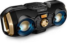 Phillips Bluetooth Boombox Speaker – Rugged Portable Wireless Radio USB AUX for sale online Hifi Audio, Stereo Speakers, Radios, Micro Hi Fi, Bass, Bluetooth, Computer Gadgets, Tech Gadgets, Hi Fi System
