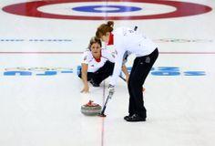 GB's women's curling team in action