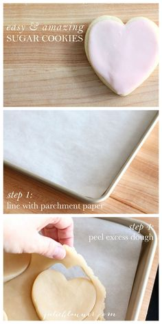 Step-by-step tutorial to make cutout sugar cookies quick & easy without a lot of cleanup!