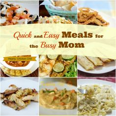 Hi Busy Moms! Here are 9 quick and easy recipes to get on the table in minutes. Hubby and kid-friendly!
