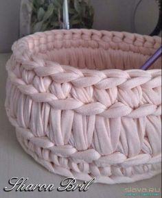 вязание - Her Crochet Crochet Bowl, Crochet Basket Pattern, Knit Basket, Love Crochet, Crochet Yarn, Crochet Patterns, Crochet Baskets, Crochet Stitches, Crochet Storage
