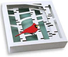 View Design: 3d wall art - cardinal and birch trees (1 of 2)