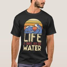 Life is simple just add water - waves T-Shirt   travel vacation, beach travel tips, adventure travel #traveltipschile #aurora #oreca, 4th of july party Beach Trip, Vacation Trips, Beach Travel, Finland Travel, Surfer Dude, Vintage Surf, Shirt Outfit, T Shirt, Wave Design