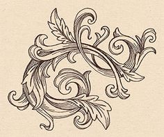 Layer this flourish with other designs, or let it create a classy look all on its own!
