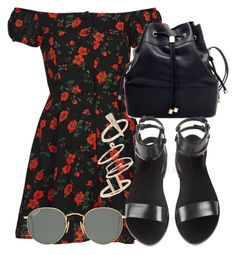 """""""Sem título #2178"""" by mariandradde ❤ liked on Polyvore featuring Topshop, Alexander Wang and Ray-Ban"""