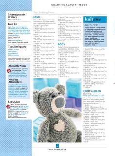 Knitting Bear, Teddy Bear Knitting Pattern, Baby Cardigan Knitting Pattern Free, Knitted Teddy Bear, Knitting Kits, Knitting Projects, Boys Knitting Patterns Free, Animal Knitting Patterns, Christmas Knitting Patterns