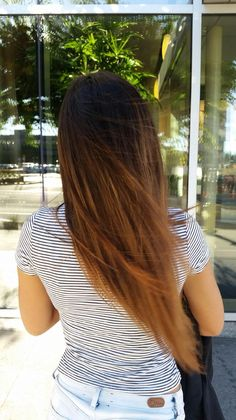 long balayage black brown caramel blonde straight hair