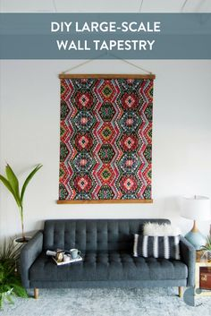DIY Large-Scale Tapestry Wall Art - you won't believe how simple and affordable this project is! Plus, it's gorgeous ... and huge!