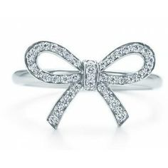Noble Bowknot Inlaid Crystal Silver Plate Rings for Women   $4.07