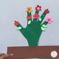 Kids Crafts, Preschool Crafts, Crafts To Make, Christian Christmas Crafts, Christmas Card Crafts, Flower Crafts, Diy Flowers, Cool Paper Crafts, Kids Learning Activities