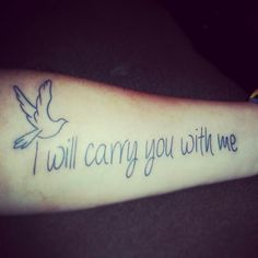 I will carry you with me.. for those we have lost along the way♥