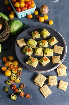 (Nutritional yeast crackers) These gluten-free, grain-free, and dairy-free crackers have a delicious, cheesy flavor. Gluten Free Recipes, Low Carb Recipes, Vegan Recipes, Cooking Recipes, Celiac Recipes, Tapas Recipes, Recipies, Keto Snacks, Healthy Snacks