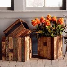 recyled teak boxes
