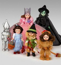 Madame Alexander Wizard of Oz dolls: $64.95 - $134.95. My mom has collected Madame Alexander dolls for years and I have always loved them. I would love to have my own collection starting with Wizard of Oz. I absolutely love them!!
