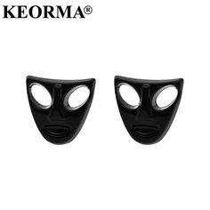 KEORMA Cool V Vendetta Drama Mask Earring for Mens Women Resin Unisex Punk Skull Stud Earrings Dropship Wholesale Price #Affiliate