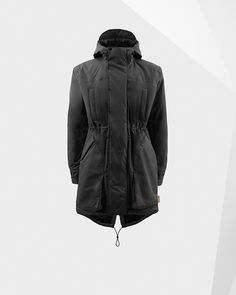 £280 Black Waterproof Original Parka, fully insulated for added warmth.
