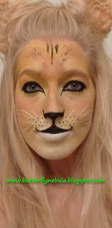 Image detail for -Butterfly Nebula: Face painting, a lioness