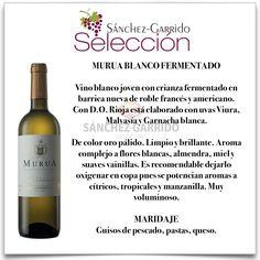 MURUA BLANCO FERMENTADO de Bodegas Masaveu.  La mejor selección de vinos de #Antequera y comarca, en Selección Sánchez-Garrido.