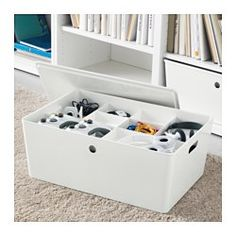"IKEA - KUGGIS, Insert with 8 compartments, The compartments gives you a good overview and helps you find what you need, when you need it.If you want to keep both smaller and larger items in the same box, combine the insert with KUGGIS box, 15x21x8""."