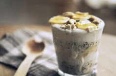 Morning Diaries - oatmeal in a glass