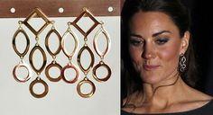 Kate Middleton Gold Chandelier Earrings katemear644 by tudorshoppe