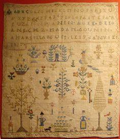 Fait par Suzanne Anun âgée de 10 ans chez madame Gounin à Marsillargues le 17 janvier 1827 (M)