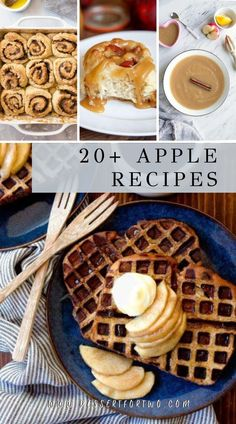 Apple Recipe Collection! Dessert and dinner recipes for two that use apples. Everything from cakes, pies, tarte tatin, burgers, and turnovers. Recipes use fresh apples or apple sauce. #apple #fall Fresh Fruit Desserts, Raw Desserts, Apple Desserts, Fruit Recipes, Baking Recipes, Dessert Recipes, Best Apple Recipes, Sweet Recipes, Cooking For Two