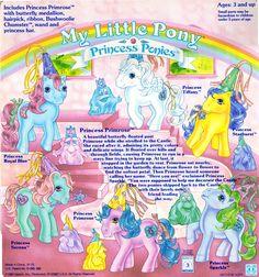 My Little Pony Princess Pony Backcard