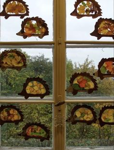Autumn art from the garden classroom Fall Arts And Crafts, Easy Fall Crafts, Fall Crafts For Kids, Toddler Crafts, Diy For Kids, Autumn Activities For Kids, Fall Preschool, Art Activities, Preschool Crafts