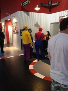 Meanwhile at the go kart track… things are about to get serious.
