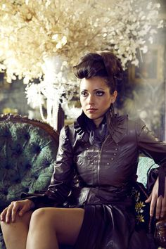 Ladies Brown Leather Steampunk Victorian Corset Couture Dress Coat