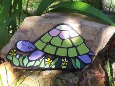 turtle on a rock, for loubies garden!