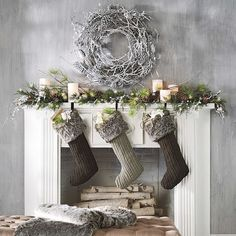Modern Christmas Decorations | Holiday Decor Fireplace Mantel
