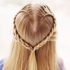 Stylish Heart Braid Pony - Send your little diva to school in style on Valentine's Day <3