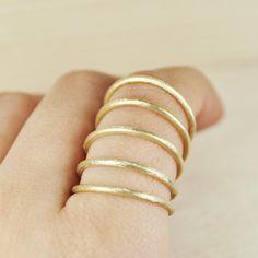 Multiple ring bronzegold coatedfree shipping by nihanatakan, $28.00