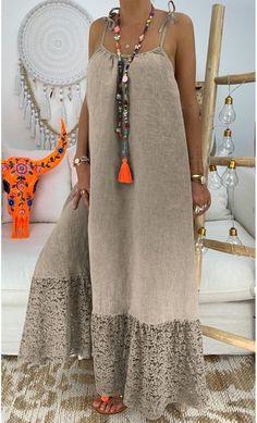 Casual Summer Dresses, Summer Dresses For Women, Sexy Dresses, Fashion Dresses, Loose Dresses, 1950s Dresses, Dress Summer, Vintage Dresses, Backless Maxi Dresses
