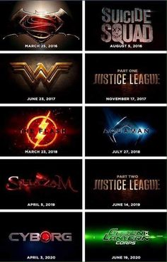 DCEU Movies from BvS-GLC
