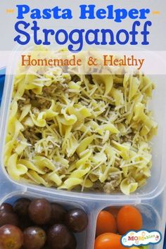 Ditch the box, your family is going to love this recipe! It is also perfect for school lunch. Homemade Pasta Helper Stroganoff Recipe