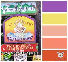 Kali River Rapids Sign - Color Hues