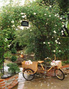 into the garden... love the bike!
