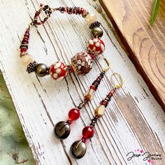 Let this Fall-inspired design warm you up🍁 Featuring brand NEW Jesse James Beads Strands.