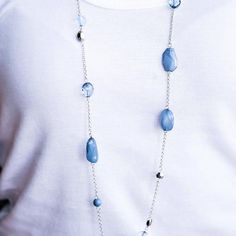 River Cruise - blue - Paparazzi necklace