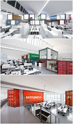 Group 8 HQ Office, Geneva, Switzerland; using 16 recycled shipping containers…