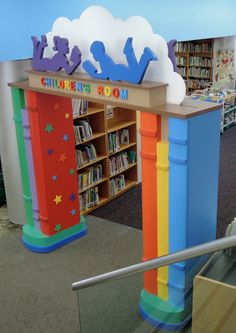 Entrance to the children's area of the New Rochelle Library