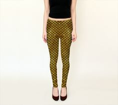 Mermaid Gold Leggings - Available Here: http://artofwhere.com/shop/product/53553