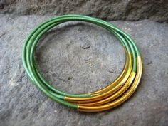 Bangles Juniper Green and Gold $10