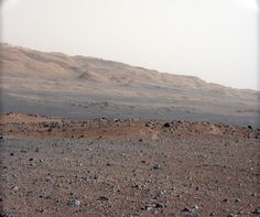 MARS: View from Curiosity via 34mm MAST Camera on 8/23/12 which takes images with lower resolution, but a much widere field of view than the 100mm Mastcam. See http://pinterest.com/pin/2814818488136266/ #Curiosity #NASA #Photography