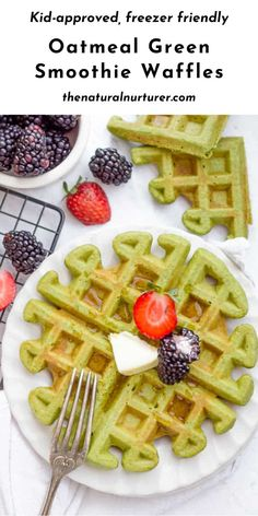 Loaded with oats, spinach, and protein from eggs, they are easily mixed in your blender. These green smoothie waffles are easy, delicious and veggie-loaded twist on classic banana waffles! Kid-approved, freezer friendly, naturally dairy-free and easily gluten free….the perfect healthy breakfast recipe! #waffles #oatmealwaffles #greensmoothiewaffles #healthy @naturalnurturer | thenaturalnurturer.com Healthy Family Meals, Healthy Kids, Fall Recipes, Real Food Recipes, Banana Waffles, Breakfast Recipes, Dessert Recipes, Dairy Free Breakfasts, Gluten Free Treats
